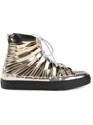 Damir Doma 'Falco' Hi Top Sneakers Metallic