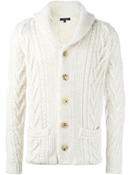Roberto Collina Cable Knit Cardigan Nude Neutrals