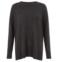 Hobbs Cashmere Natalie Sweater Charcoal