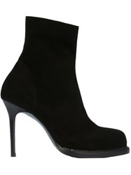Ann Demeulemeester Panelled Ankle Boots Black