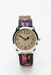 Urbanoutfitters.Com Ditsy Floral And Leather Watch