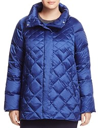 Marina Rinaldi Quilted Puffer Down Jacket China Blue
