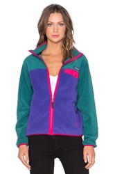 Patagonia Full Zip Snap T Jacket Purple