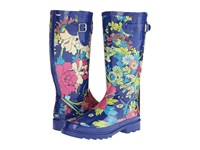 The Sak Rhythm Royal Flower Power Women's Rain Boots Multi