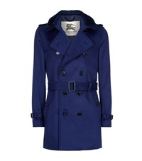 Burberry London The Kensington Shearling Collar Cashmere Heritage Trench Coat Male