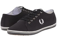 Fred Perry Kingston Twill Black Porcelain Men's Lace Up Casual Shoes