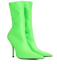 Balenciaga Knife Ankle Boots Green