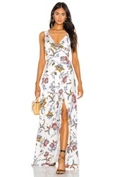 The Jetset Diaries Crazy In Love Maxi Dress White
