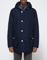 Woolrich Arctic Parka Nf In Melton Blue