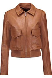 Helmut Lang Leather Biker Jacket Light Brown