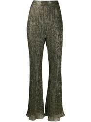 Peter Pilotto Flared Metallic Trousers 60