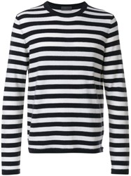 Iris Von Arnim Striped Long Sleeve Jumper Cashmere Blue