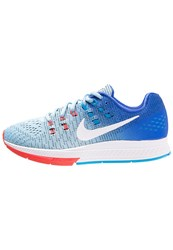 Nike Performance Air Zoom Structure 19 Stabilty Running Shoes Bluecap White Racer Blue Blue Glow Blue Grey
