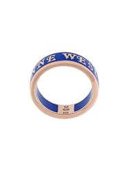 Vivienne Westwood Red Label Logo Band Ring Blue