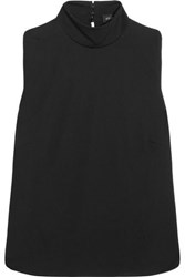 Atlein Stitched Jersey Top Black