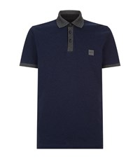 Boss Orange Contrast Collar Polo Shirt Navy