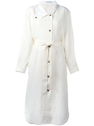 J.W.Anderson Belted Shirt Dress White