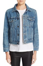 Helmut Lang Women's Flannel Lined Denim Jacket