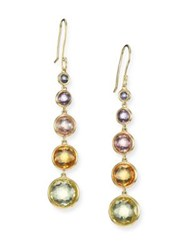 Ippolita Rock Candy Semi Precious Multi Stone And 18K Yellow Gold Lollitini Drop Earrings Gold Multi