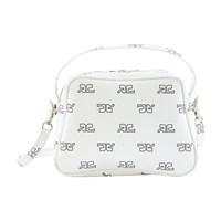 Courreges Iconic Day Shoulder Bag White And Black