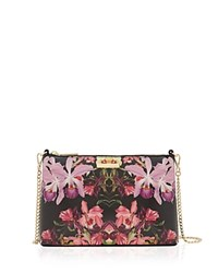 Ted Baker Lost Gardens Leather Crossbody Black Multi Gold