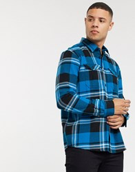 Tom Tailor Flannel Shirt In Blue