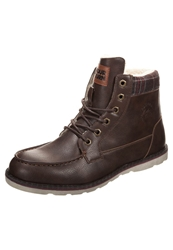 Your Turn Laceup Boots Dark Brown Natural