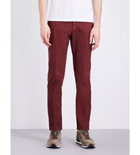 Slowear Slim Fit Linen And Cotton Blend Chinos Red