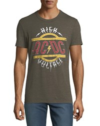 Chaser Ac Dc High Voltage Graphic T Shirt Olive