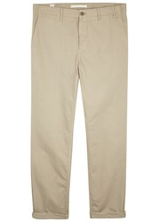 Norse Projects Aros Stone Cotton Twill Chinos Khaki
