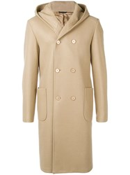 Daniele Alessandrini Double Breasted Overcoat Neutrals