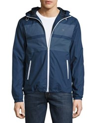 Original Penguin Printed Wind Resistant Jacket Dark Blue