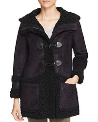 Glamorous Faux Shearling Toggle Coat Black