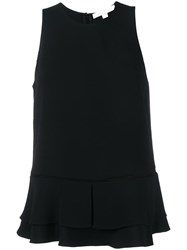 Jonathan Simkhai Layered Hem Tank Top Black