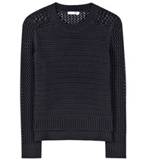 Rag And Bone Annie Knitted Cotton Sweater Blue