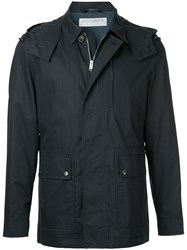 Gieves And Hawkes Zipped Light Weight Jacket Blue