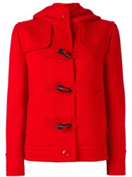 Boutique Moschino Boxy Hooded Jacket Red