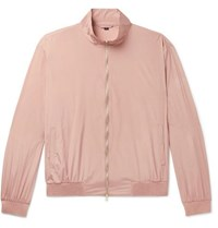 Dunhill Coated Mulberry Silk Bomber Jacket Pink