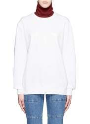 Toga Archives Contrast Turtleneck Sweatshirt White