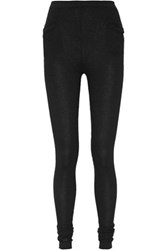 Rick Owens Ribbed Cashmere Leggings Black