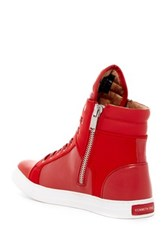 Kenneth Cole Reaction Double Header High Top Sneaker Red