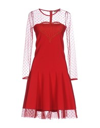 Piccione.Piccione Piccione Piccione Knee Length Dresses Red