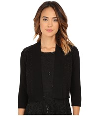 Rsvp Bre Shrug With Jet Beads Black Women's Sweater