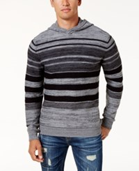 American Rag Men's Striped Hoodie Sweater Created For Macy's Oat Heather