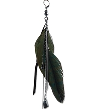 Maje Feather Earrings With Diamante Black