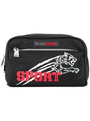 Plein Sport Logo Print Wash Bag Black