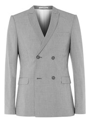 Topman Black And White Puppytooth Skinny Fit Suit Jacket