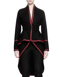 Givenchy Contrast Trimmed Tail Back Coat