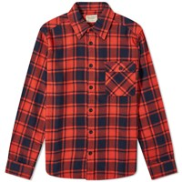 Nudie Jeans Sten Check Shirt Red