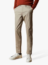 Ted Baker Tincere Super Slim Fit Chinos Light Grey